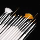 15pcs Nail Art Gel Design Pen PaInting Polish Brush Dotting 3D Drawing Tool Set