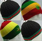 New Mens Unisex Designer Celebrity Style Knitted Beanie Stripy One Size Cap Hat
