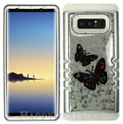 For Samsung Galaxy Note 8 - KoolKase Hybrid Cover Case Crystal Glitter Butterfly