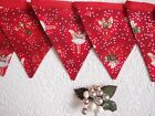 Christmas Bunting in Rare Flower Fairy Fabric - Fairies Pixies  6ft or 7.5ft