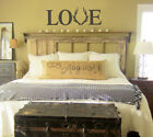 Love with Deer Antlers Vinyl Letters Hunting Wedding Wall Decals Love Quote Art