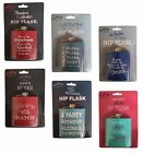 Drinking Partners Metal Hip Flask Drink Container Novelty Slogan