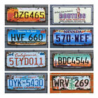 Retro United States Car License Plates Sign Metal Home Bar Auto Tags Decorations