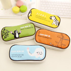 Canvas/PU Leather Pencil Case Pen Holder Bag Pouch Cosmetic Bag School Supplies