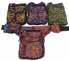 FAIR TRADE FESTIVAL BOHO EMBROIDERED COTTON TRAVEL PASSPORT BAG UTILITY HIP BELT