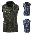 Mens Baseball Jacket Thick Section Jungle Camouflage Sleeveless Jackets Coat Top