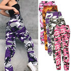 Women Casual Camo Long Pants Army Cargo Jogger Military Camo