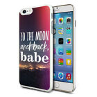 To The Moon Design Hard Back Case Cover Skin For Various Phones