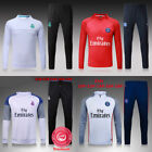 UK SELL Kids Boys Soccer Tracksuit Football Sportswear Top Bottom Training Suit