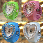 Finger Ring Watch Heart Diamond Embellished for woman Fashion Jewelry Girls Gift image