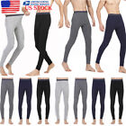 US Mens Winter Warm Tight Fit Pants Long Thermal Basic Trousers Home Leggings