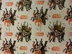 STAR WARS FABRIC 100% COTTON METRE MATERIAL REY LUKE SKYWALKER FINN POE DAMERON £39.0 GBP
