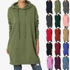 Внешний вид - TheMogan S~3X Basic Loose Fit Pocket Pullover Hoodie Long Tunic Sweatshirts