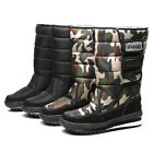 Newest Men Snow Boots Male Comfy Mid Calf Sheos Winter Casual Walking Footwear