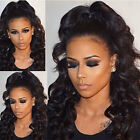 8A Peruvian Virgin Human Hair Wig Long Loose Wave Full Lace/Lace Front Wig KX34