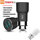 Xiaomi Roidmi 2s Bluetooth FM Transmitter Dual USB Port  Car Charger Fast Charge