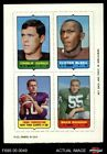 1969 Topps 4-in-1 Football Stamps Charlie Durkee / Clifton McNeil / Fran Tark NM $20.0 USD on eBay