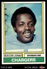 1974 Topps #390 Deacon  Jones -  Chargers NM $20.0 USD