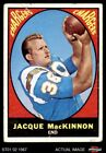 1967 Topps #124 Jacque MacKinnon Chargers FAIR $1.1 USD