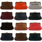 NEW Soft Leather Ladies Clasp Purse Coin purse Classic Change Handy Zipped Gift