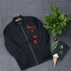 jacket men chinese style thin pilot coat man wind breaker embroidery flowers