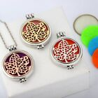 Hollow out Maple Leaf Open Aromatherapy Luminous Pendant Necklace New