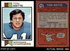 1973 Topps #338 Tom Matte Chargers EX
