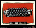 1964 Topps #175 San Diego Chargers Team Chargers EX/MT $13.0 USD