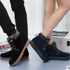 Womens Fur Lace Up Casual boots Winter Warm Shoes