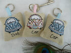 Handmade Lavender Keyring Choice of colour & Personalisation New Car Gift Beetle