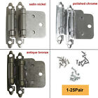 Kitchen Cabinet Door Self Close Hinges Overlay Flush Hinges 1-25Pairs+Screws