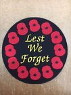 Embroidered LEST WE FORGET Large Patch