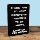 Light Up Peg Board - message, LED, retro, notice, note