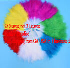 28 Staves Fluffy Marabou Feather Fans Performance Feather Fans 9 Colors