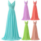 Long Cocktail Bridesmaids Evening Prom Party Dresses Wedding Ball Gown SIZE 6-20