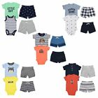Carter's 4 Piece Set for Baby Boys - Bodysuit, T-Shirt, 2 Shorts