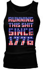 Running This Sh*t Since 1776 - USA Pride Flag  Patriotic Boy Beater Tank Top