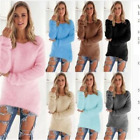 Womens Loop Round Neck Knitted Jumper New Pullover