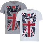 Lonsdale T-Shirt SOUTHAMPTON Boxing Large Union Jack Logo Grey White Regular Fit