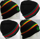 New Designer Mens Unisex Warm Celebrity Knit Thermal Stripped Cap Beanie Hat