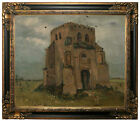 van Gogh The old church tower at Nuenen 1885 Framed Canvas Print Repro 20x24