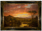 Church A Country Home Wood Framed Canvas Print Repro 19x28