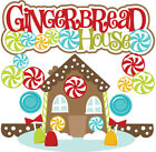 Christmas Gingerbread house SET of Scrapbook Embellishment Die Cuts