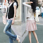 Fashion Ladies Women's Sleeveless Short Waistcoat Blazer Jacket Coat Top M-4XL
