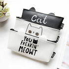 Jelly Glue Cute Cat Meow Student Pencil Pen Case Pouch Cosmetic Purse Holder Bag