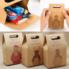 10 Pcs Kraft Paper Xmas Party Cookies Candy Present Gift Bag Luxury Wedding Bag