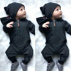Внешний вид - Kids Baby Boy Warm Infant Romper Jumpsuit Bodysuit Hooded Clothes Sweater Outfit