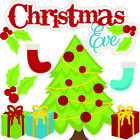 Christmas Eve Scrapbook Embellishment Die Cut Card making Piecing