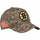 Boston Bruins Mens adidas NHL Camouflage Team Flexfit Hat Small Medium