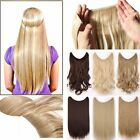 Hidden Invisible Wire In Premium as Human Hair Extension Full Head Wavy Brown FK